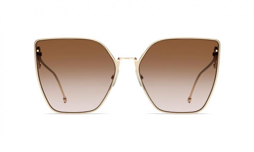 شراء نظارة فندي نسائي شمسية - شكل مربع - لون ذهب - زكي