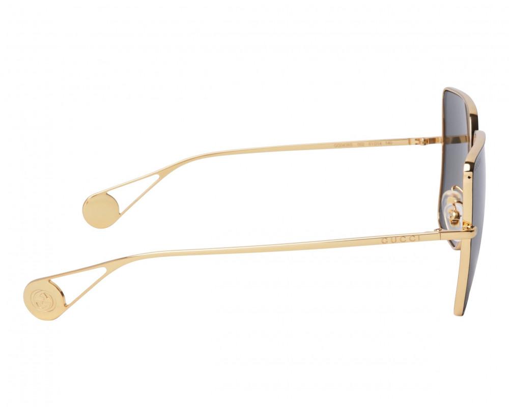 سعر نظارة قوتشي نسائي شمسية - شكل سداسي - لون ذهبي - زكي للبصريات