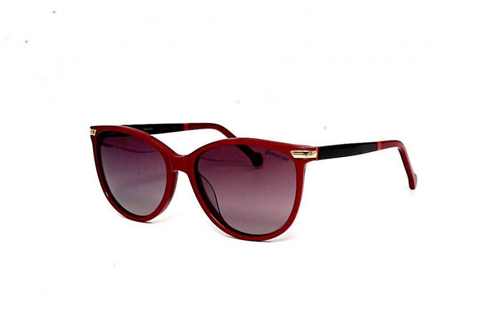 نظارة لومير شمسية للنساء - شكل كات أي - لون أحمر - زكي