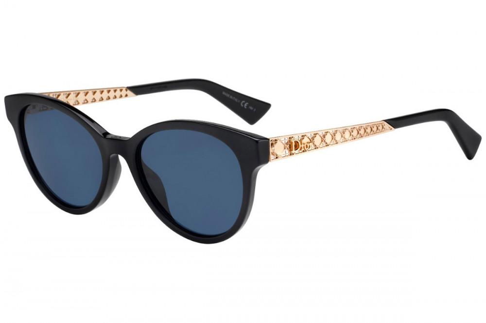 نظارات شمسية نسائية ديور - شكل كات اي - لون اسود - زكي