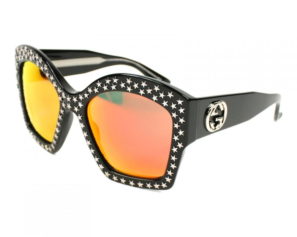 نظارة قوتشي نسائي شمسيه - شكل مربع - لون اسود - زكي للبصريات