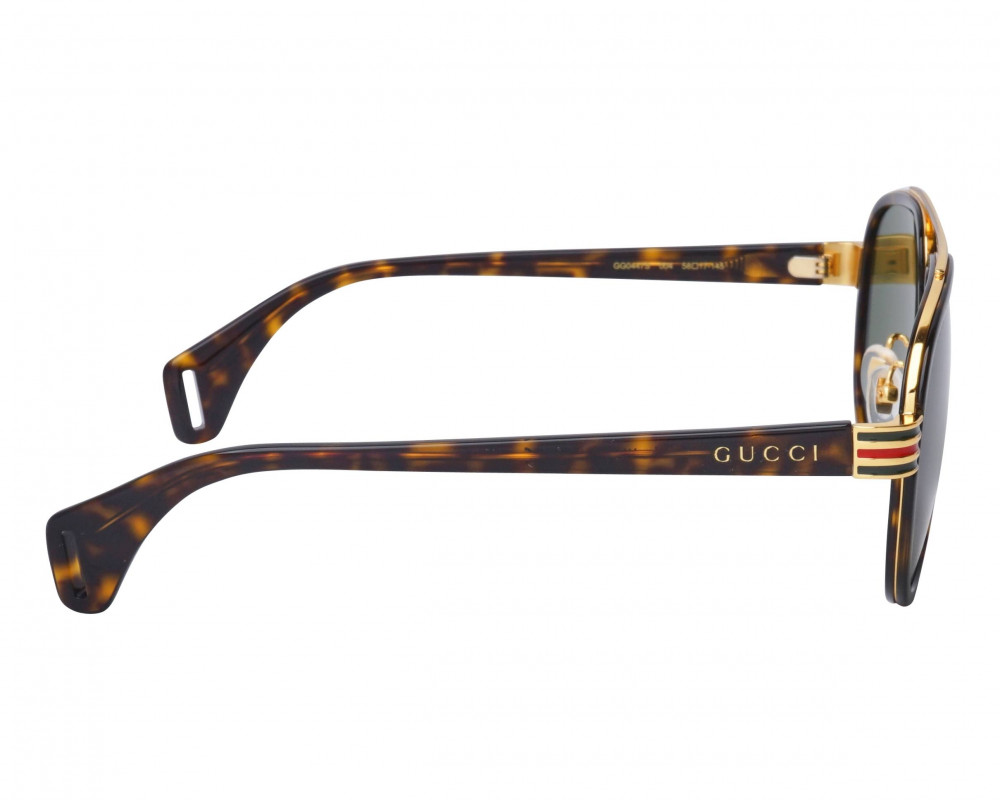 شراء نظارة قوتشي شمسية للجنسين - شكل افياتور - لون تايقر - زكي للبصريا