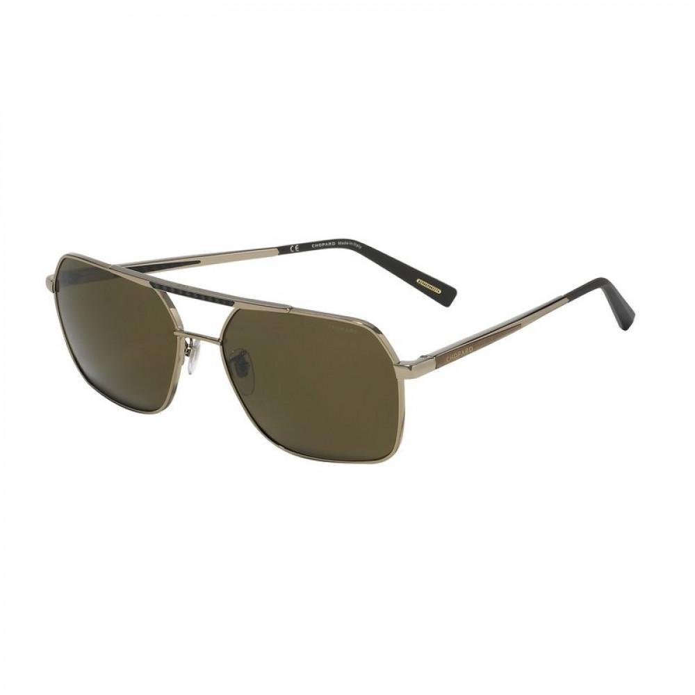 نظارة شوبارد شمسية للرجال - لون بني - زكي للبصريات