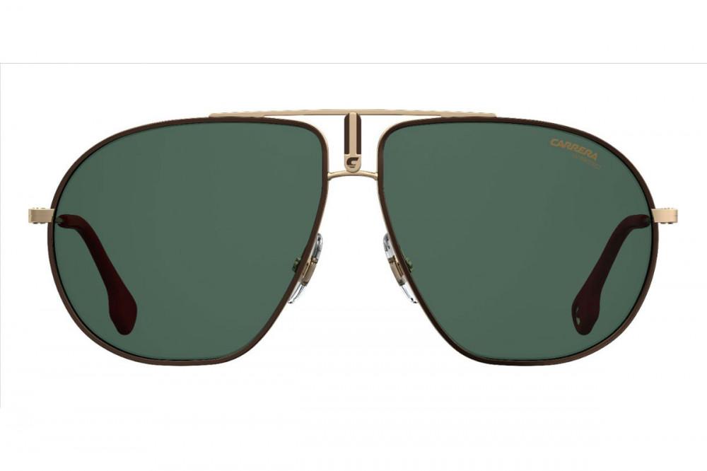 نظارة كاريرا شمسيه رجالية - شكل أفياتور - لونها ذهبي - زكي للبصريات