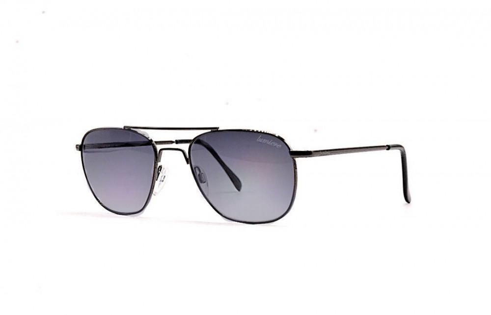 نظارة لومير شمسية للرجال - شكلها غير منتظم - لونها رمادي - زكي