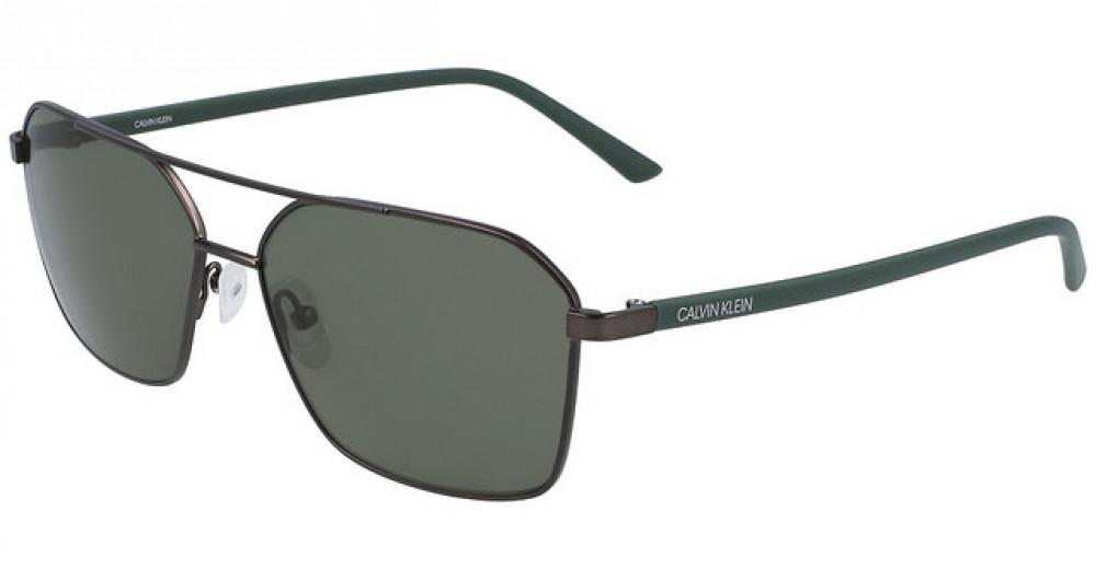 نظارات كالفن كلاين الشمسية للرجال - شكل افياتور - لون اسود - زكي