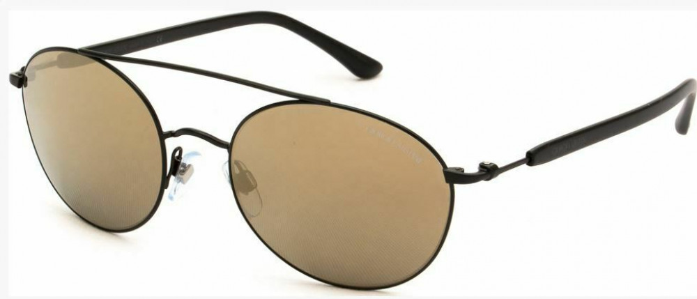 نظارة جورجيو ارماني شمسية للجنسين - شكل دائري - لون أسود - زكي