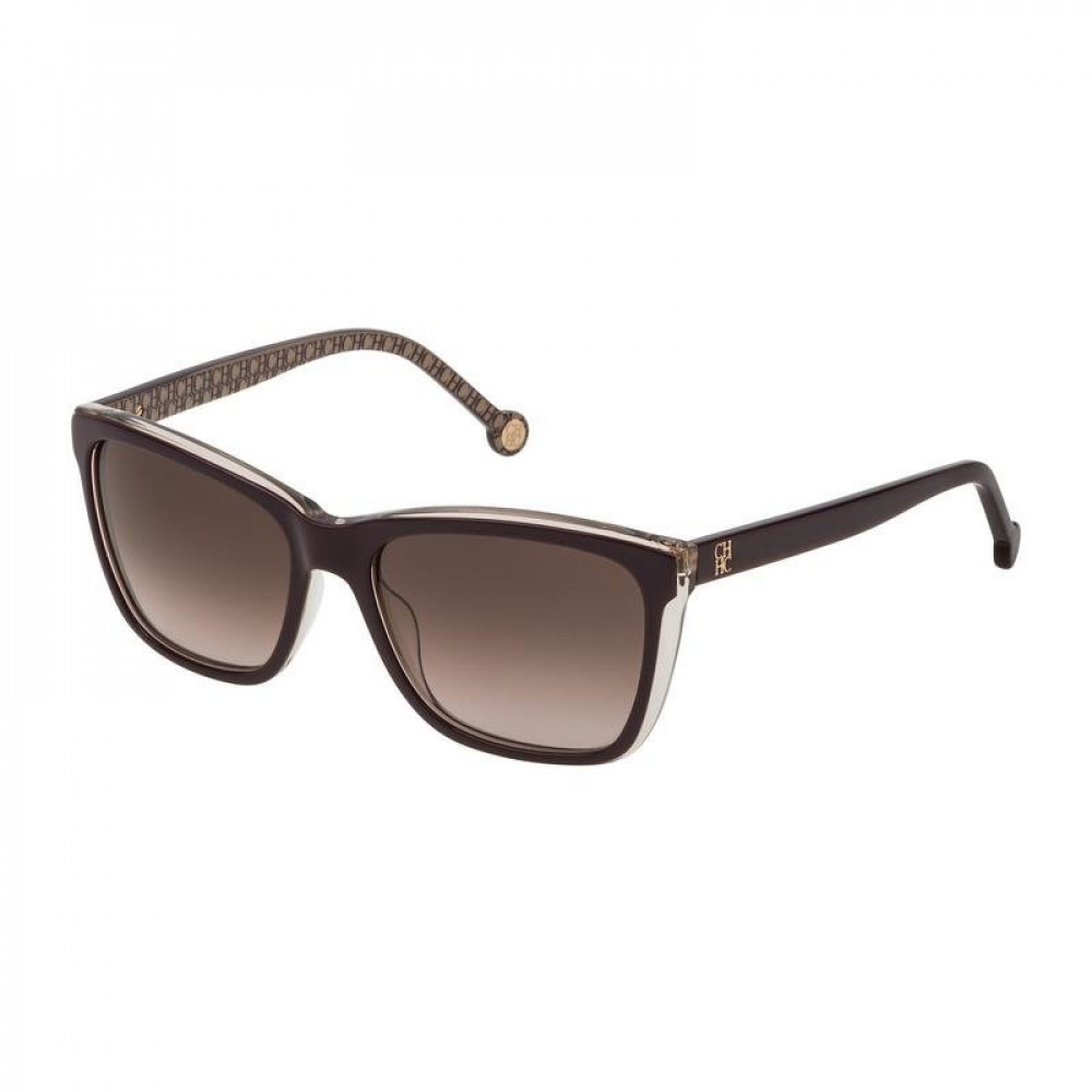 نظارات كارولينا شمسية للنساء - شكل مستطيل - لونها بني - زكي