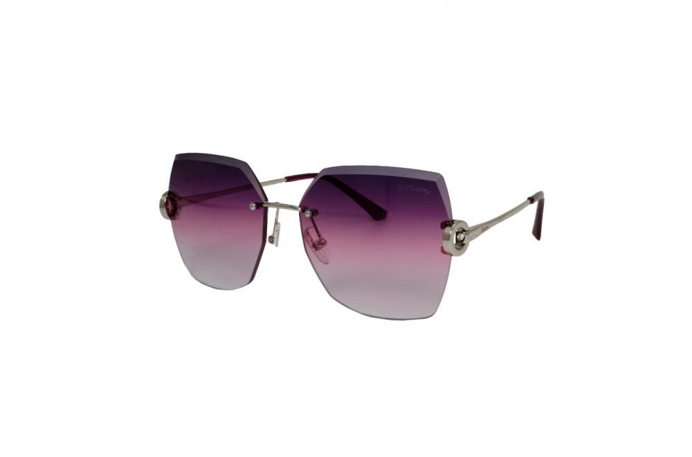 نظارة لومير شمسية للنساء - شكل غير منتظم - لون فضي - زكي