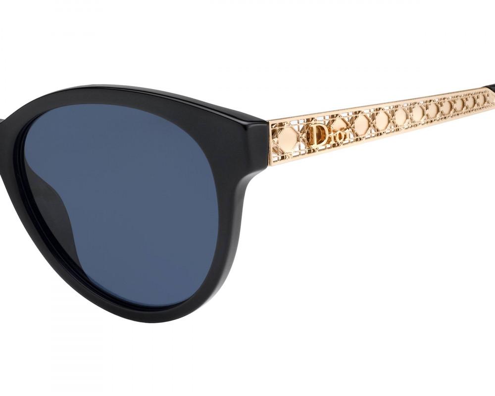 احسن نظارات شمسية نسائية ديور - شكل كات اي - لون اسود - زكي