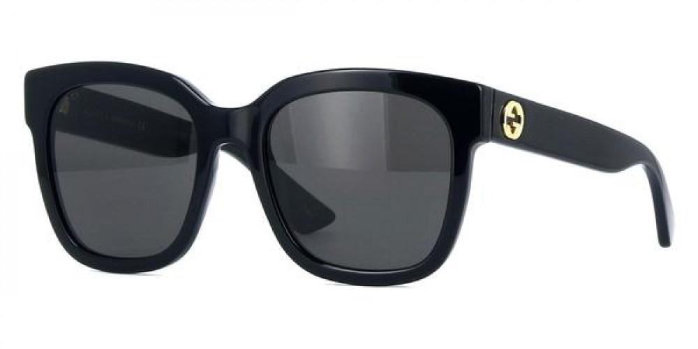 نظارة قوتشي نسائي شمسيه - شكل كات أي - لونها أسود - زكي