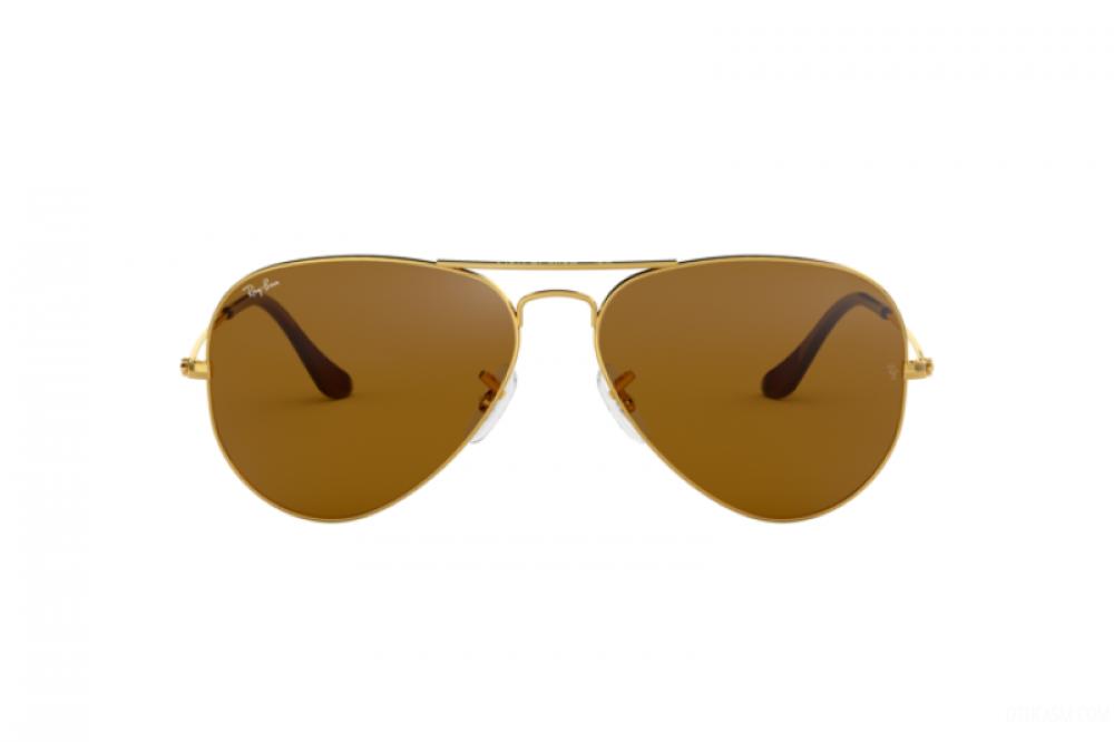 سعر نظارة ريبان شمسية للرجال - شكل افياتور - اللون ذهبي - زكي للبصريات