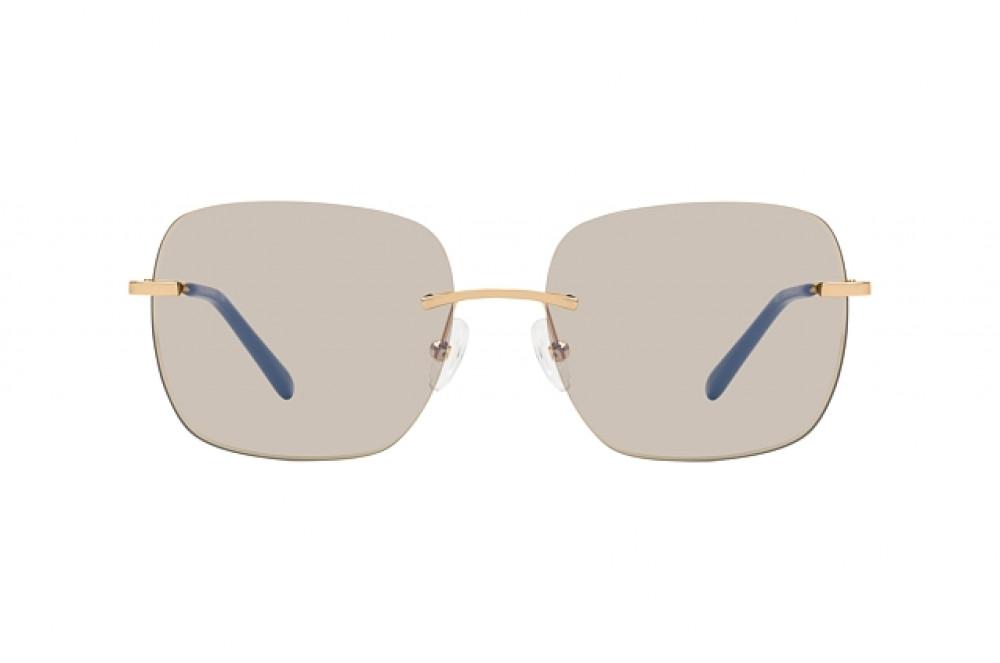 سعر نظارة شمسية كالفن كلاين للنساء - شكل مربع - لون عسلي - زكي