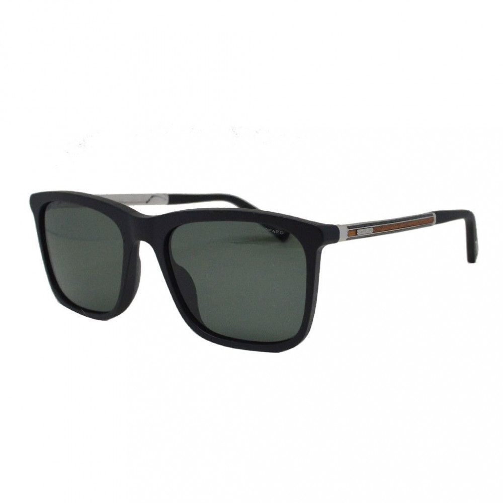 نظارة شوبارد شمسية للرجال - شكل مربع - لون أسود - زكي للبصريات