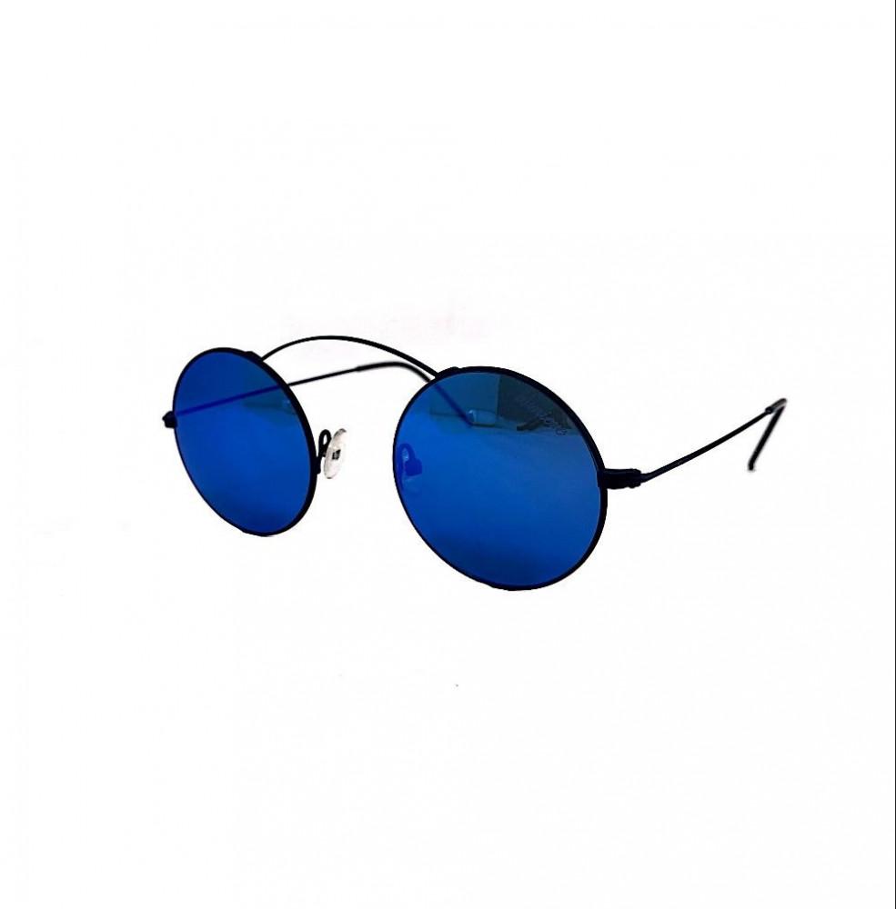 نظارة لومير شمسية للرجال - شكل دائري - باللون أسود - نظارات زكي