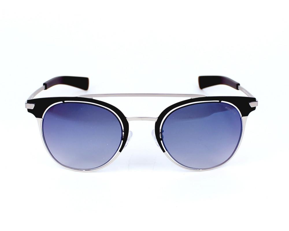 افضل نظارة بوليس شمسية رجالي - شكل دائري - لون أسود - زكي للبصريات