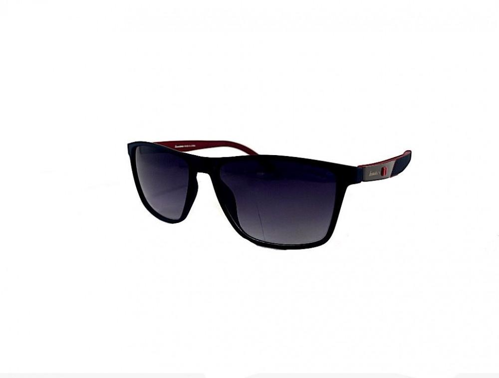نظارة لومير شمسية للرجال - شكل مستطيل - لون اسود - نظارات زكي