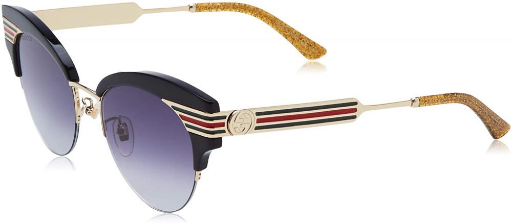 سعر نظارة قوتشي نسائي شمسية - شكل كات اي - لونها اسود - زكي
