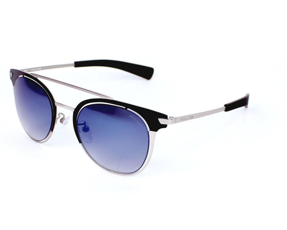 نظارة بوليس شمسية رجالي - شكل دائري - لون أسود - زكي للبصريات
