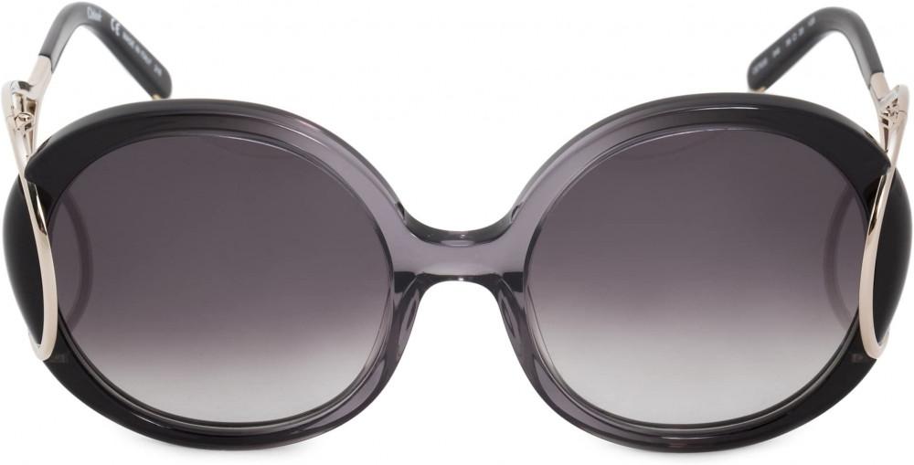 افضل نظارة كلوي شمسية للنساء - شكل دائري - لون أسود - زكي