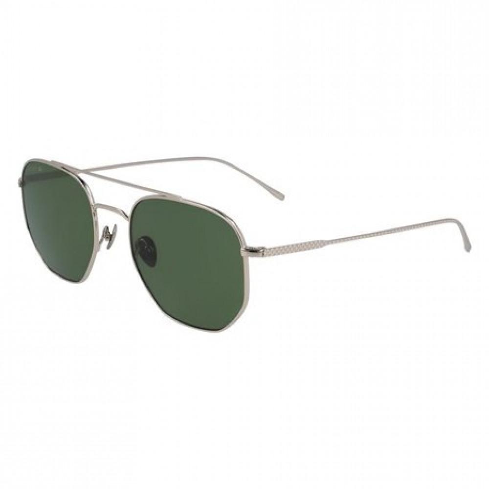 نظارة لاكوست شمسية للجنسين - شكل سداسي - لون فضي - زكي للبصريات