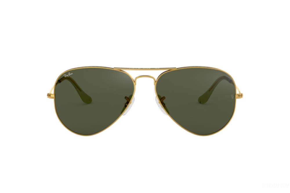 افضل نظارة ريبان شمسية نسائية ورجالية - افياتور - ذهبي - زكي للبصريات