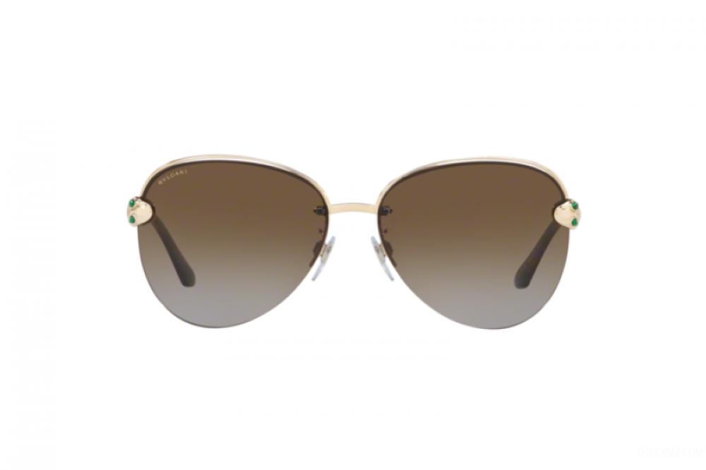 افضل نظارة بولغاري نسائي شمسية - شكل افياتور - لون ذهبي - زكي