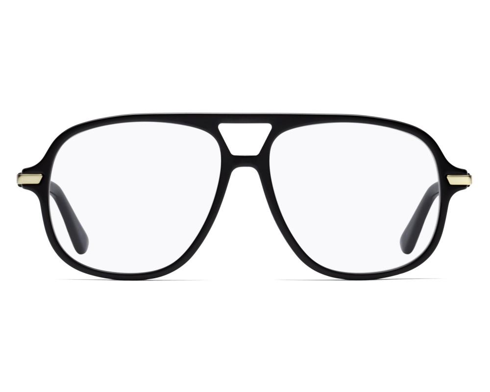 نظارة ديور هوم للرجال شمسيه - شكل افياتور - لون أسود - زكي للبصريات