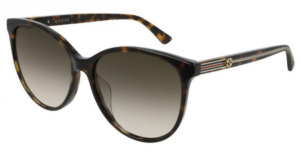 نظارة قوتشي نسائي شمسية - شكل كات أي - لون تايقر - زكي للبصريات