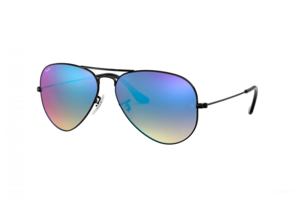 نظارة ريبان شمسية رجاليه - افياتور - اسود - زكي للبصريات