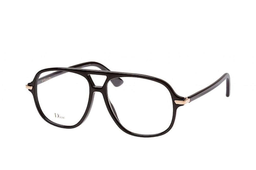 نظارة ديور هوم للرجال شمسية - شكل افياتور - لون أسود - زكي للبصريات