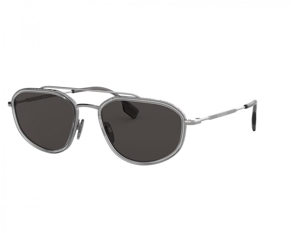 نظارة بربري شمسية للرجال - شكل غير منتظم ولونها فضي - زكي للبصريات