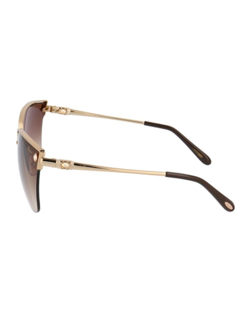 احسن نظارات شوبارد نسائية شمسية - شكل غير منتظم - لون عسلي - زكي