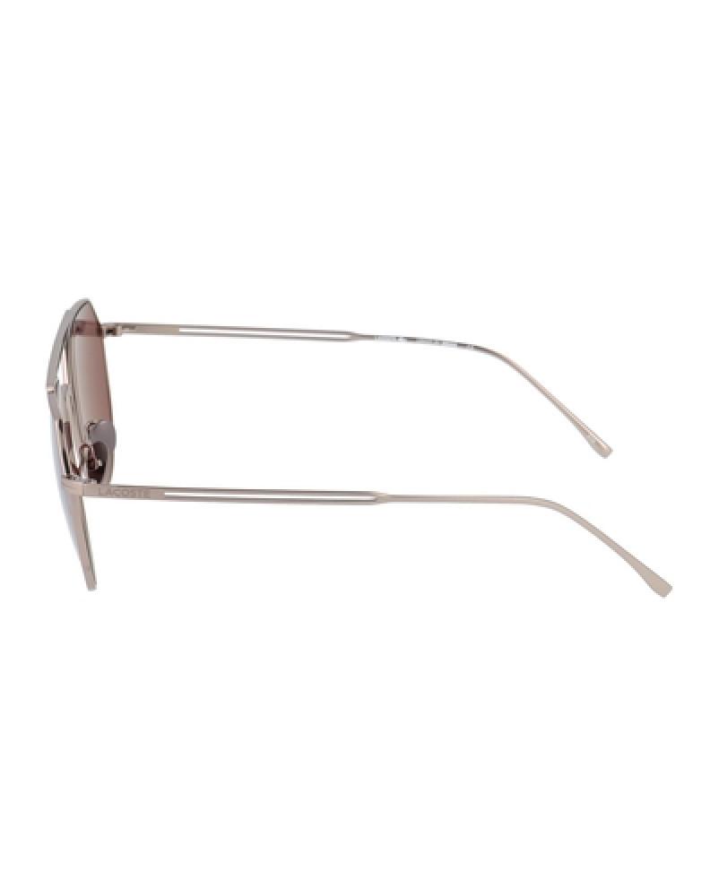 احسن نظارة لاكوست شمسية للجنسين - شكل افياتور - فضي - زكي للبصريات