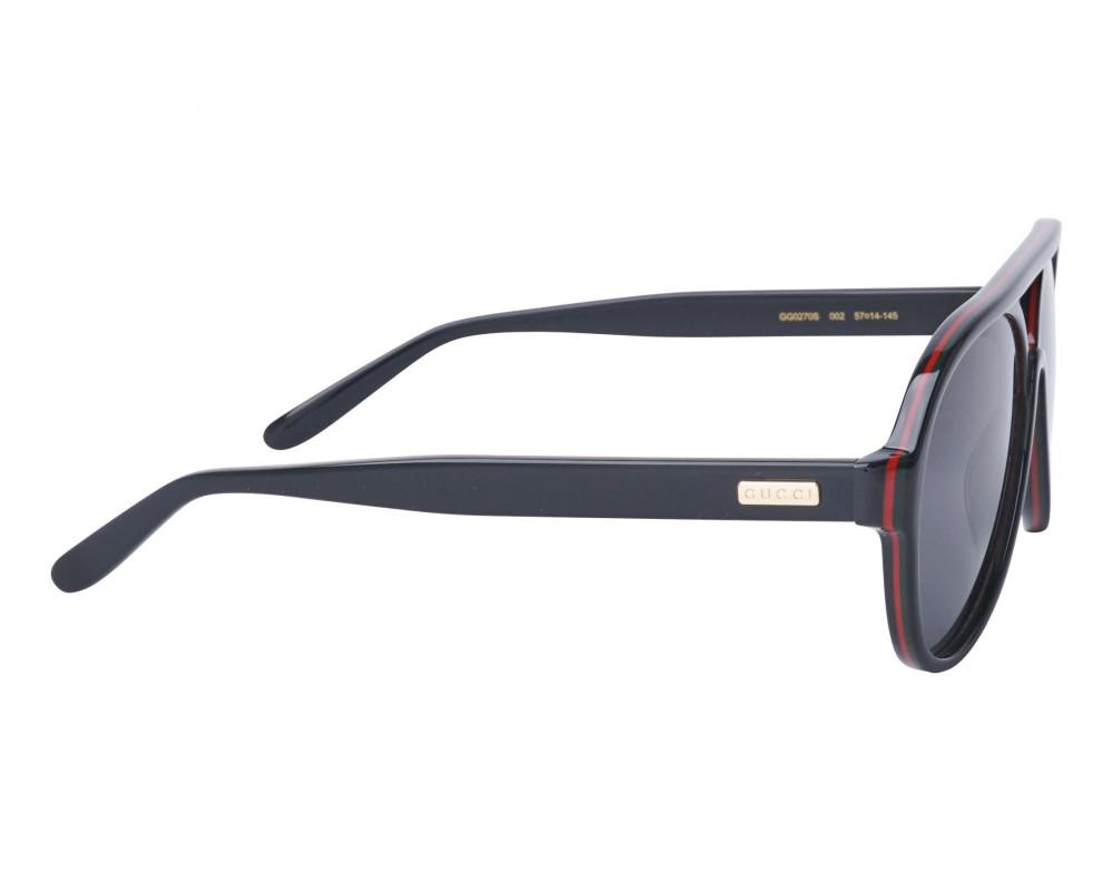 شراء نظارة قوتشي شمسية رجالية - شكل افياتور - لون اسود - زكي للبصريات