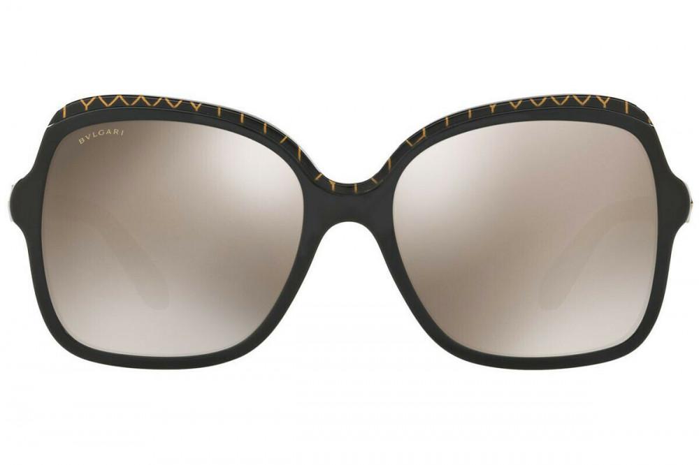 افضل نظارة بولغاري نسائي شمسية - شكل مربع - لون اسود - زكي