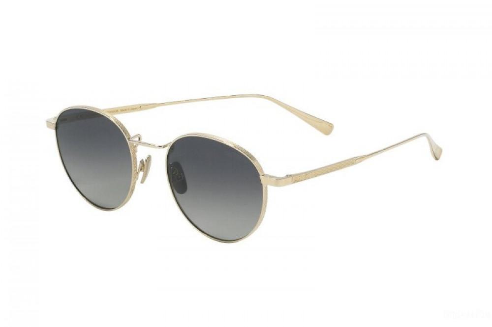 نظارة شوبارد شمسية للجنسين - شكل دائري - لون ذهبي - زكي للبصريات