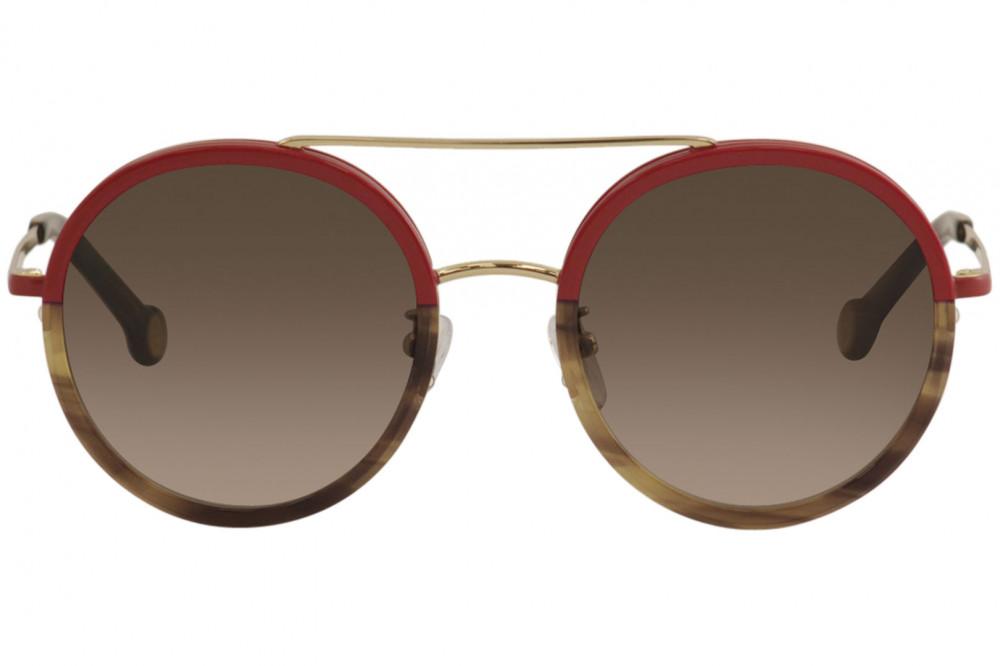 شراء نظارات كارولينا شمسية للنساء - شكل دائري - لون أحمر - زكي