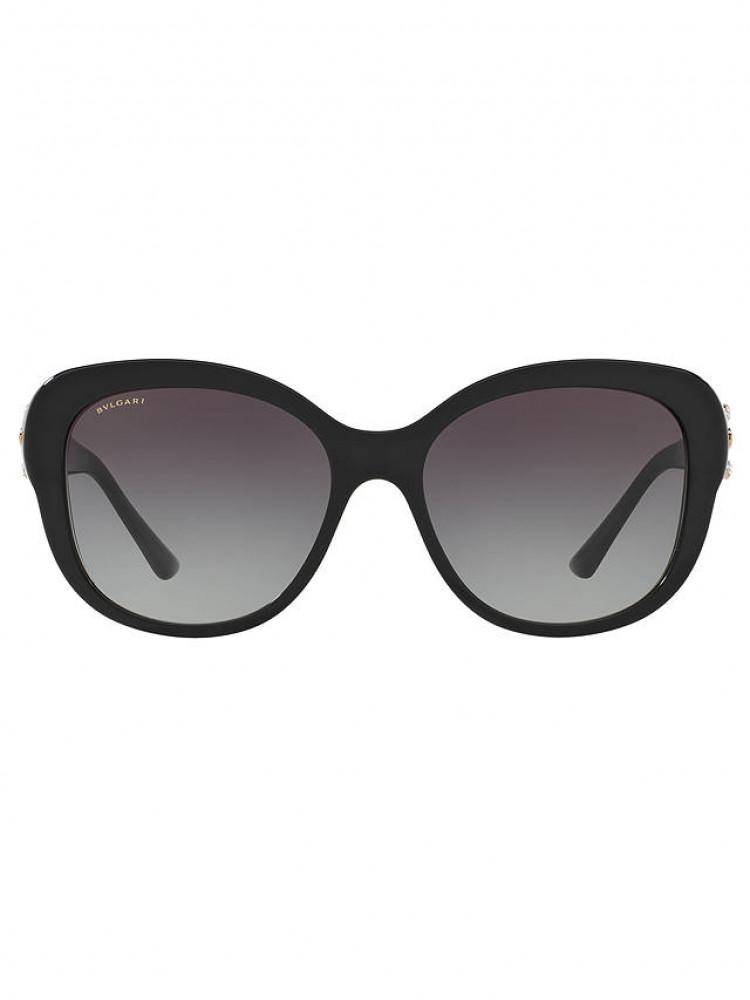 سعر نظارة بولغاري نسائي شمسية - شكل بيضوي - لون اسود - زكي