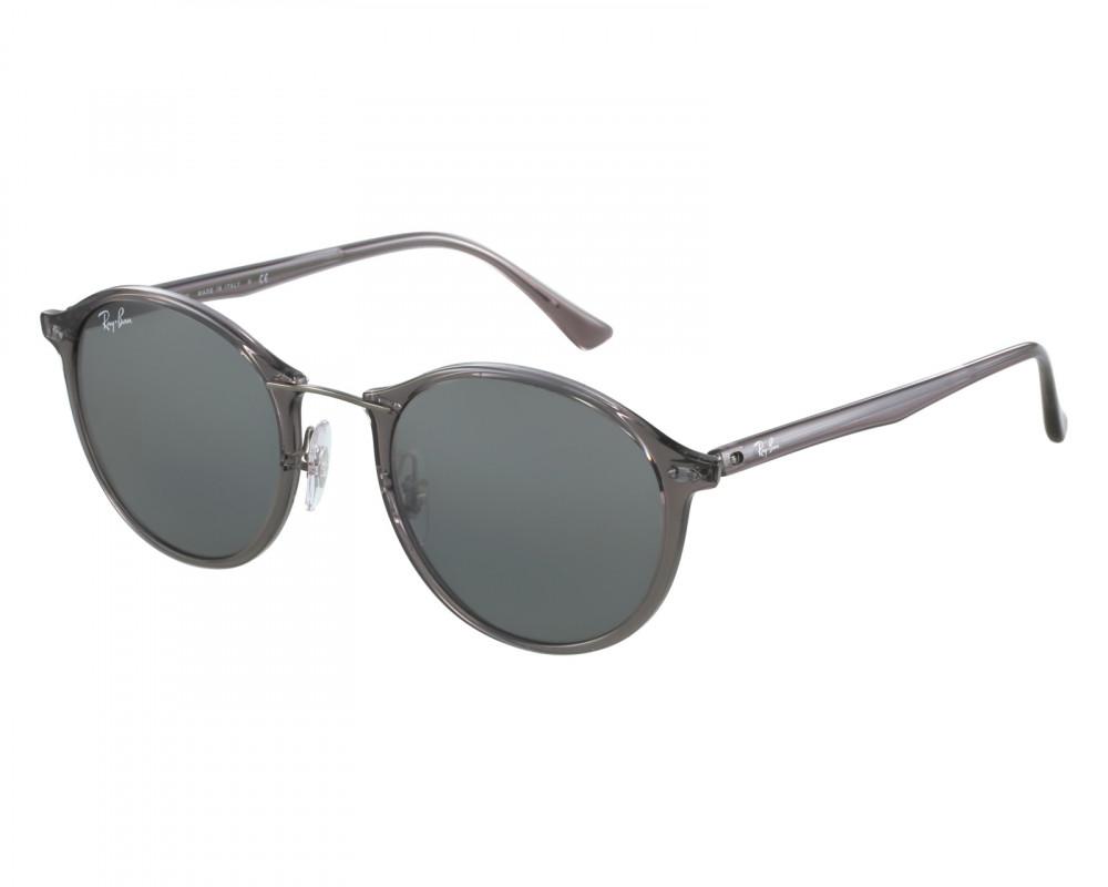 نظارة ريبان شمسية للرجال -  لون بني - دائرية - زكي للبصريات