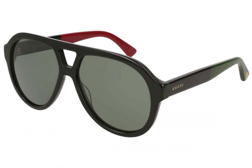 نظارة قوتشي شمسيه رجالية - افياتور - لون اسود - زكي للبصريات