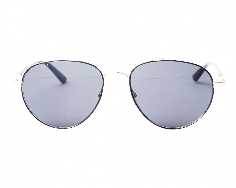افضل نظارة قوتشي شمسية للرجال - شكل بيضاوي - لون ذهبي - زكي للبصريات