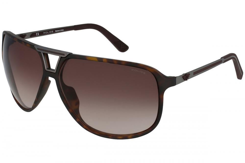 نظارة بوليس شمسية رجالية - شكل افياتور - لون بني - زكي للبصريات
