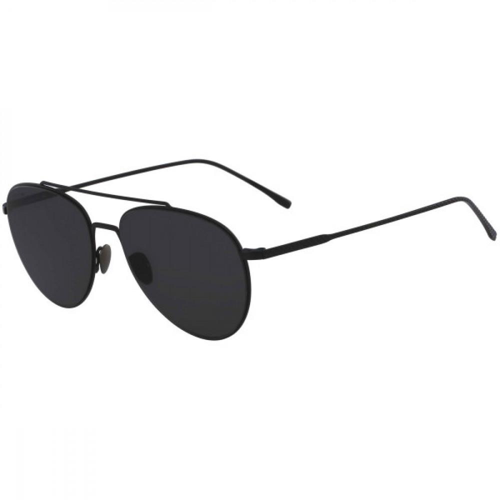 نظارة لاكوست شمسي للجنسين - شكل افياتور - لون أسود - زكي للبصريات