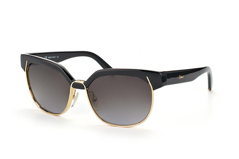 نظارة كلوي شمسية للنساء - شكل كات اي - لون اسود - زكي