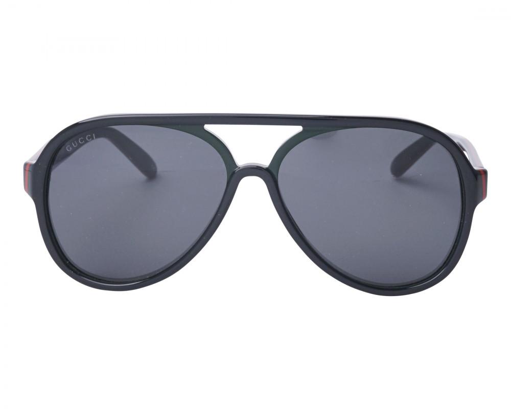 سعر نظارة قوتشي شمسية رجالية - شكل افياتور - لون اسود - زكي للبصريات