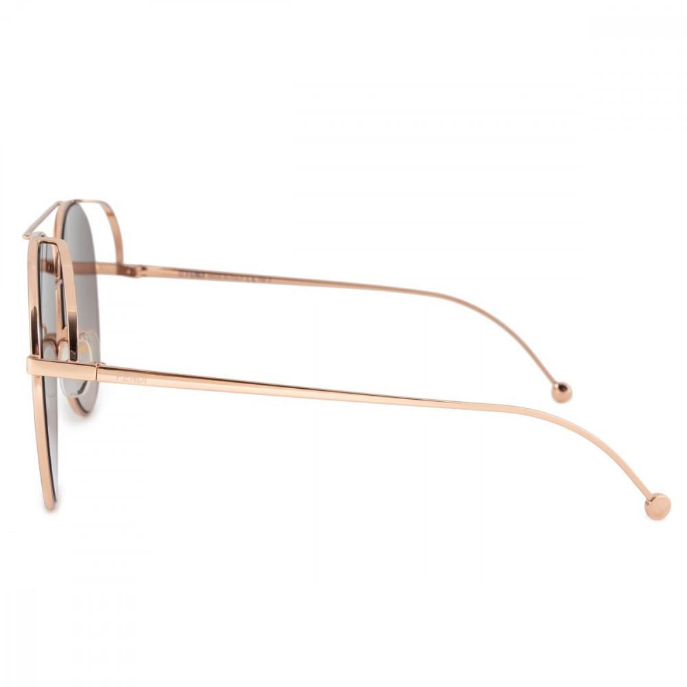 اسعار نظارة فندي نسائي شمسية - شكل افياتور - لون نحاسي - زكي