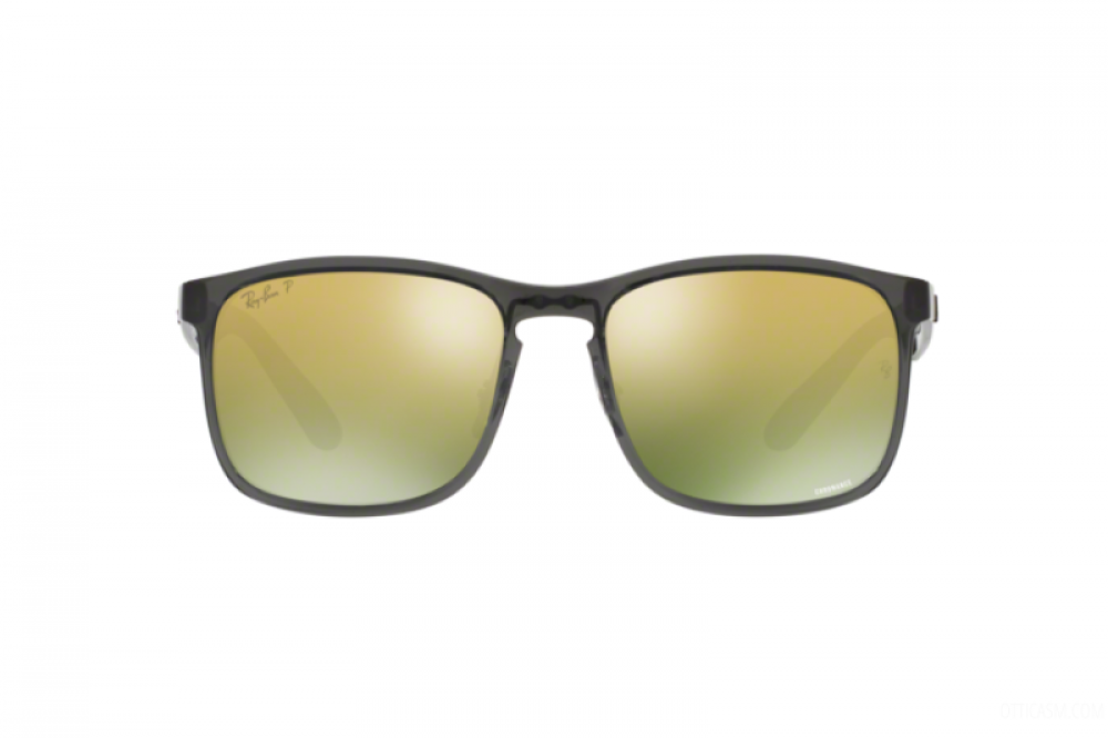 افضل نظارة ريبان شمسية للرجال مربعة -  أسود - زكي للبصريات
