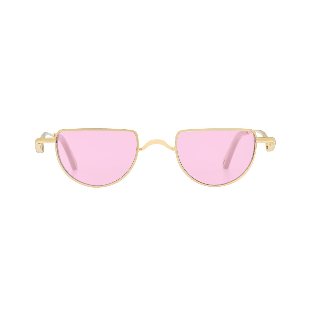 افضل نظارة كلوي شمسية للنساء - شكل غير منتظم - لون وردي - زكي