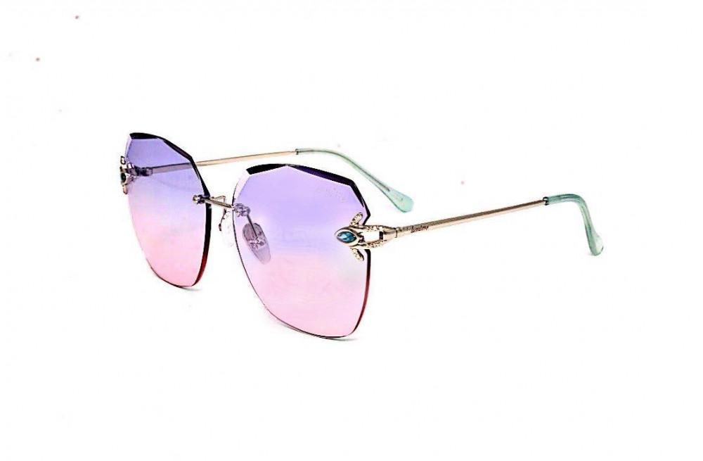 نظارة لومير شمسية للنساء - شكل غير منتظم - لون وردي وبنفسجي - زكي